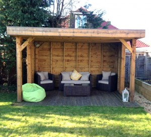 Bespoke timber garden buildings from alda landscapes for Timber garden rooms